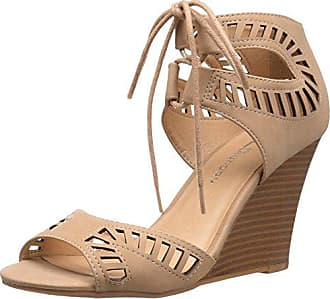 Chinese Laundry Womens Bright Sun Wedge Pump Sandal, Nude Nubuck, 9.5 M US