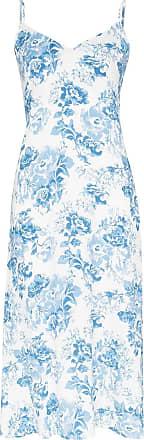 Reformation Slip dress midi Nella com estampa - Azul