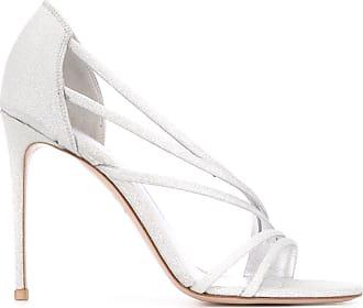 Le Silla Sandália com brilho e salto 105mm - Prateado