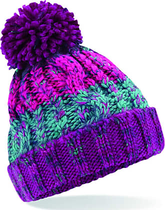 4sold Mens Womens Girls Beanie Warm Winter Corkscrew Cable Knitted Bobble Hat Plain Ski Pom Wooly Cap (One Size, Winter Berrie)