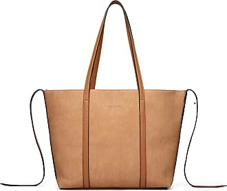 Quirk LEATHER LOOK TWO WAY TOTE SHOULDER BAG - KHAKI