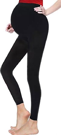 Momo & Ayat Fashions Ladies Maternity Full Length Ankle Cotton Comfort Leggings UK Size 8-26 (Black, UK 10 (EUR 38))