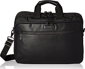 Kenneth Cole Reaction Kenneth Cole Reaction VadorNox 800d Polyester with Faux Leather Dual Compartment Top Zip 17 Laptop Case, Black