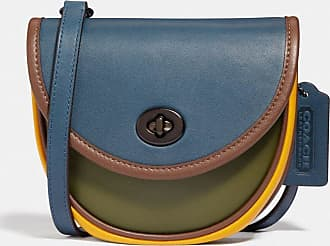 Coach Turnlock Convertible Crossbody In Colorblock in Blue/Green