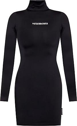 VETEMENTS Branded Roll Neck Sweater Womens Black