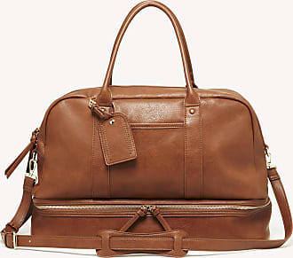 Sole Society Womens Mason Weekender Vegan Leather In Color: Cognac Bag From Sole Society