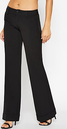 Alloy Apparel Tall Clarkson Plus Size Trousers for Women Black 15/37 - Rayon/Spandex