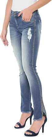 Morena Rosa Calça Jeans Morena Rosa Skinny Andreia Tachas Azul