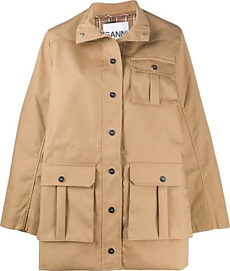Ganni Safari canvas jacket - NEUTRALS