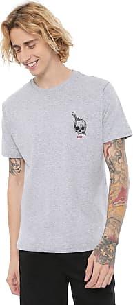 Hawaiian Dreams Camiseta HD Knife Skull Cinza