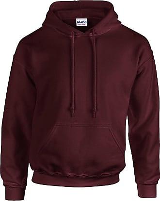 Gildan Desconocido Boys Hooded Long Sleeve Track Jacket black burgundy Large