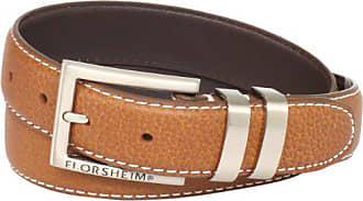 Florsheim Mens 32 mm Full Grain Leather Belt, Cognac 44