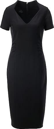 Madeleine Jersey-Etuikleid mit raffinierten Details in schwarz MADELEINE Gr 34 für Damen. Polyester. Reinigung