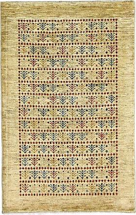 Nain Trading 131x83 Persian Gabbeh Loribaft Rug Beige/Pink (Hand-Knotted, Iran/Persia, Wool)