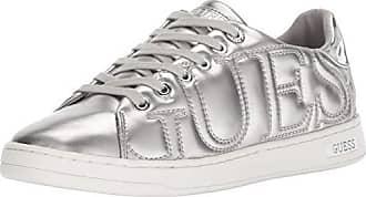 Guess Womens CESTIN Sneaker, Silver, 9.5 M US