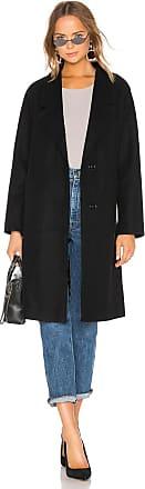 Kendall + Kylie Single Breasted Long Coat in Black