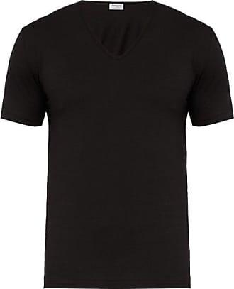 Zimmerli Pure Comfort Stretch-cotton T-shirt - Mens - Black