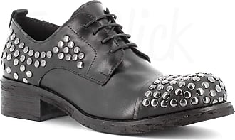 Generico Made in Italy Stringed Leather Shoes - Black Black Size: 5 UK