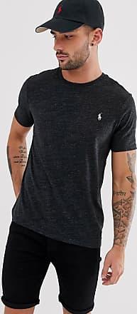 Polo Ralph Lauren T-shirt vestibilità classica custom fit con logo nero mélange