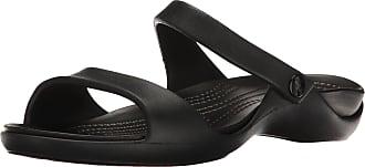 Crocs Womens Cleo V W Sandals, Black, 5 UK
