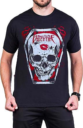 Bandalheira Camiseta Bullet For My Valentine Logo Caveira Reforço de Ombro a Ombro