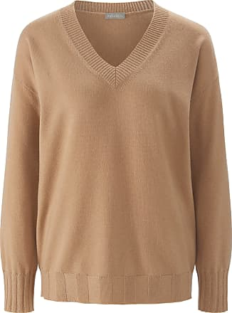 include V-neck jumper in 100% cashmere include brown