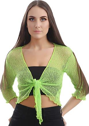 Love my Fashions Ashlee Viscose Light Weight Cropped Shrug Ice Green