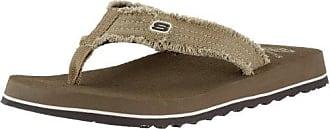 Skechers USA Mens Fray Cotton Thong,13 M US,Brown