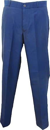 Relco Mens Classic Retro Mod Sta Press Trousers (32, Tonic Blue)