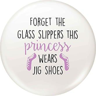 Flox Creative 77mm Pin Badge Princess Wears Jig Shoes