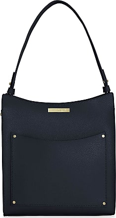 Katie Loxton Pacey Pocket Womens Vegan Leather Shoulder Bag Navy