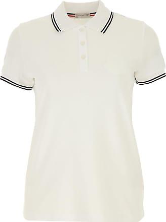 902dd963 Moncler Polo Shirt for Women On Sale, White, Cotton, 2017, 2 4
