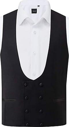 Dobell Mens Black Tuxedo Waistcoat Regular Fit Double Breasted-2XL (50-52in)