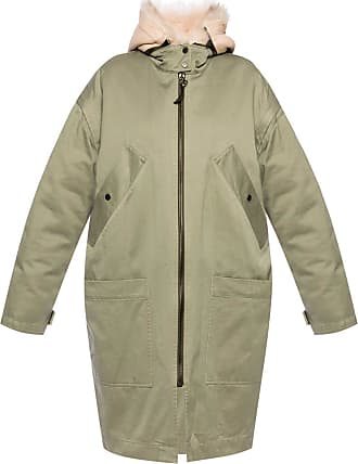 Yves Salomon Two-layered Hooded Jacket Womens Green