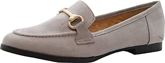 Saute Styles Ladies Womens Casual Buckle Low Heel Loafers Work Office Pumps School Shoes Size 8 Grey