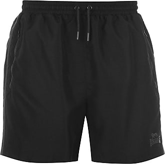 Lonsdale Mens Training Two Stripe Woven Inner Mesh Briefs Shorts (X-Large, Black Charcoal)