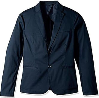 A|X Armani Exchange Mens Cavalry Twill Two Button Blazer, Navy, 44