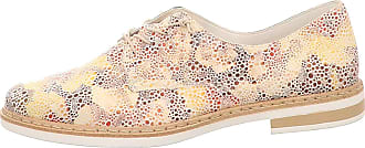Rieker Stem Womens Casual Lace Up Shoes 5/38 White Multi