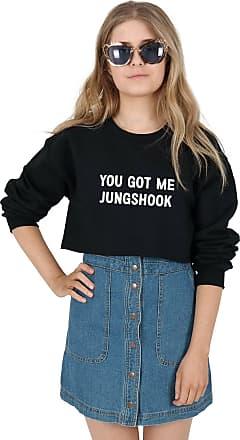 Sanfran Clothing Sanfran - You Got Me Jungshook Kpop Fangirl Jungkook Cropped Jumper Sweater - Extra Large/Black