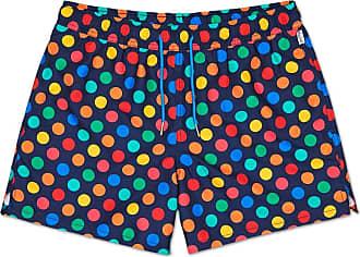 Happy Socks Colourful, Fashionable, Patterned Swim Suit for Men, Big Dot Multi (XX-Large)