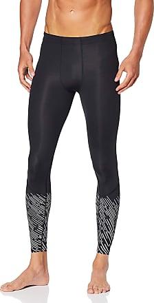 2XU Reflect Run Compression Mens Long Running Tights - Black-Medium Tall