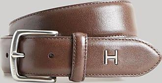 Hackett Plain Leather Belt   Size 36   Brown