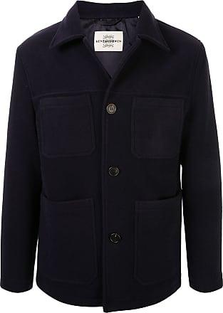 Kent & Curwen broadcloth patch coat - Blue