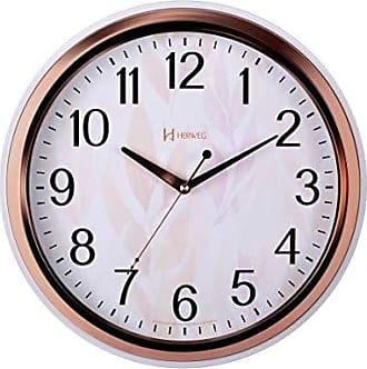 Uhren Herweg Relógio de Parede Herweg Analógico Rosa com Branco 660050309
