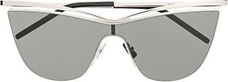 Saint Laurent Eyewear Óculos de sol oversized - Prateado