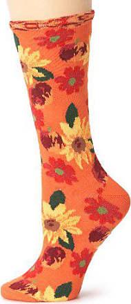 Ozone Womens Petunia Pomme Soleil Socks,Orange