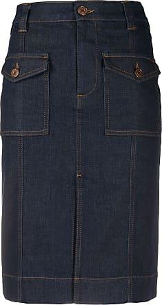 See By Chloé Saia jeans midi - Azul