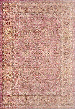 Safavieh WDS341B-4 Windsor Collection Pink and Orange Cotton Area Rug 4 x 6