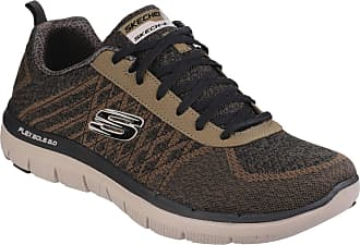 5e303b4139 Skechers Mens Flex Advantage 2.0 Golden Point Sports Trainers (8 UK) (Olive)