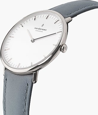 Nordgreen Native - Silver | Grey Leather - 36mm / Silver